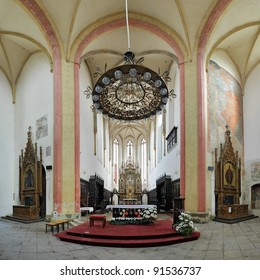 Interior of the Church of Presentation of Virgin Mary in Ceske Budejovice, Czech Republic
