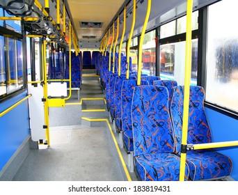 Interior of a city bus