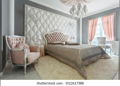 Interior of a classic style bedroom in luxury house