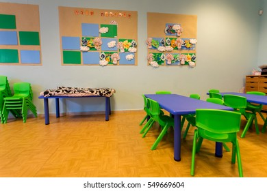 interior classroom in the kindergarten
