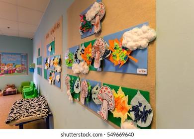 interior classroom in the kindergarten