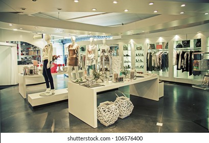 interior of clothes shop