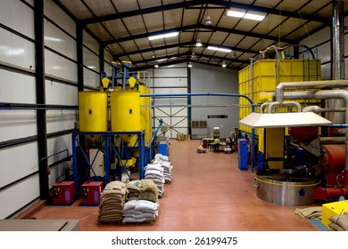 Interior of a coffee factory