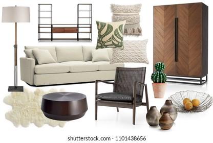 Interior Mood Board Stock Photos Images Photography Shutterstock,Scandinavian Style Livingroom