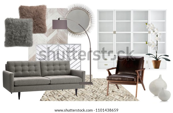Awesome Interior Collage Mood Board Interior Living Stock Photo Bralicious Painted Fabric Chair Ideas Braliciousco