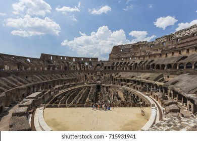 Interior of the Colosseum or Coliseum aka Flavian Amphitheatre (Anfiteatro Flavio, Colosseo), Rome, Italy