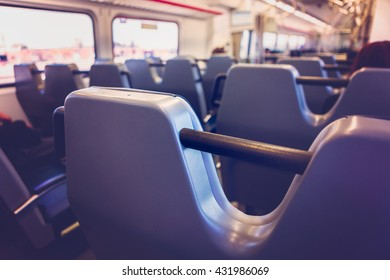 Interior of commuter train
