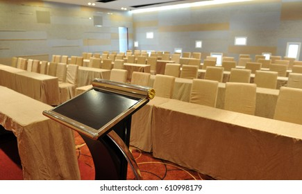 interior of a conference room.
