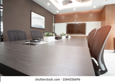 interior of conference room in moder office