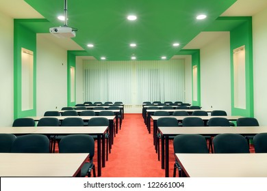 Interior of a conference room, simple and modern style.