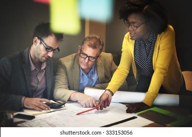 Interior Construction Team Meeting Brainstorming Concept