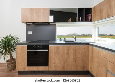 Interior of contemporary kitchen