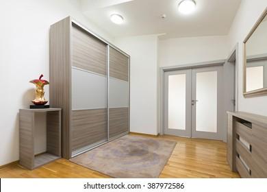 Interior of a corridor with closet