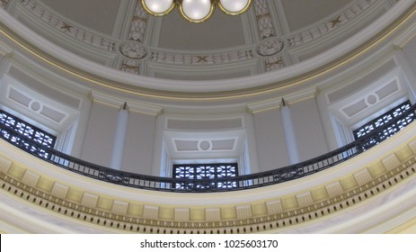 Interior of the cupola at the Arkansas State Capitol in Little Rock, Arkansas