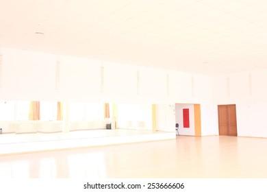 The interior of dance classroom