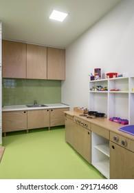 Interior of day nursery ( kindergarten)