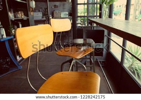 Interior Decoration Bar Style Coffee Shop Stock Photo (Edit Now ...