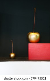interior decoration. Bronze cherry