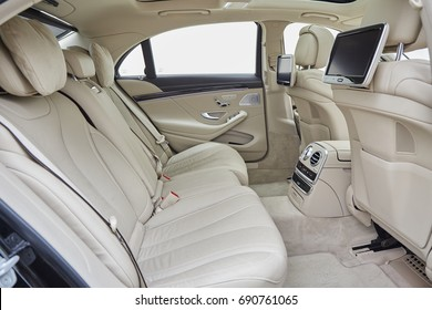 The interior decoration of luxury car