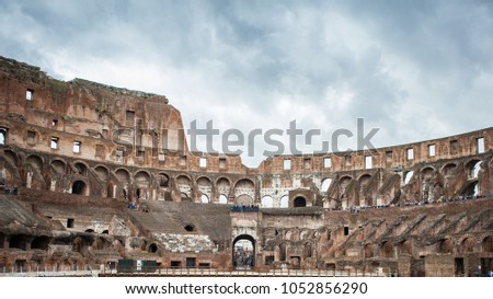 Interior Del Coliseo Romano Roma Italia Stock Photo Edit Now