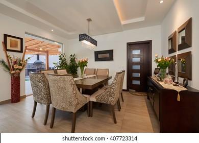 Interior Design: Big modern dining room