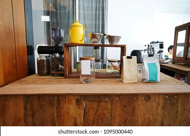Interior design and decoration of Coffee bar and bakery shop with display showcase