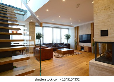 Interior design of duplex apartment