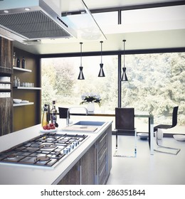 Interior design - Kitchen 3D render