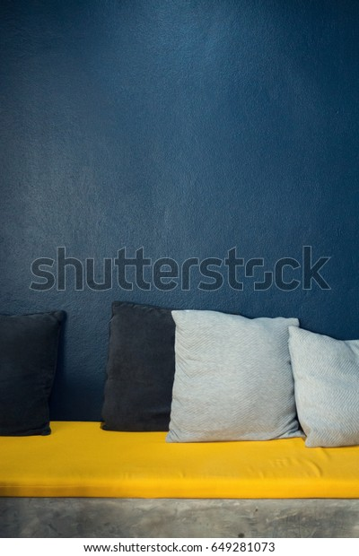 Interior Design Living Room Yellow Sofa Royalty Free Stock Image