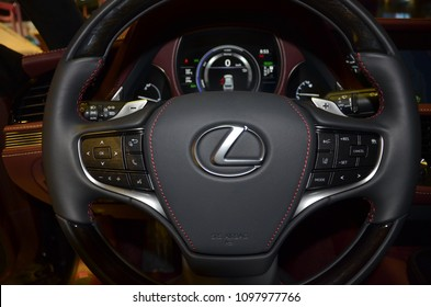 Interior design of the luxury Lexus, from the motor show in Jeddah in May 2018.
