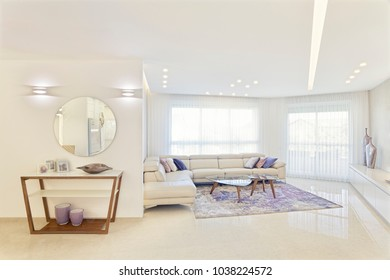 Interior Design Of Luxury Modern Living Room, Home Renovation