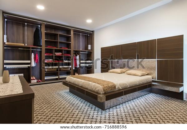 Interior Design Master Bedroom Luxury Home Stock Photo Edit Now 716888596