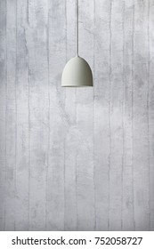 interior design modern lamp, grey stone wall for home, hotel, office