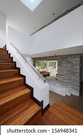 Interior design: Modern wooden stairs