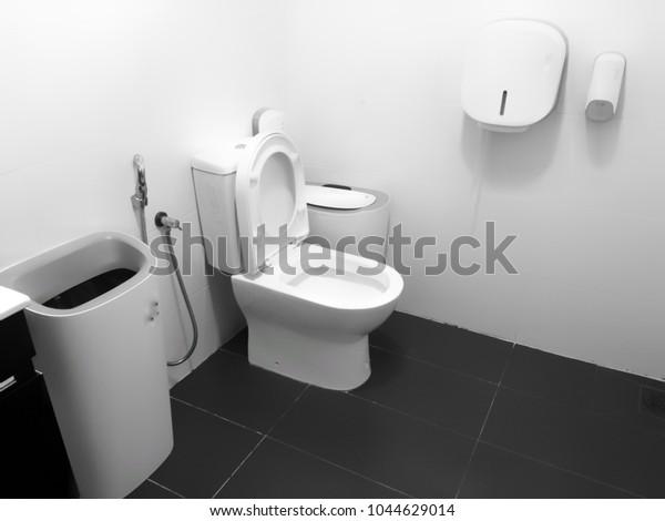 Interior Design Office Toilet Image Noise Stock Photo Edit Now 1044629014