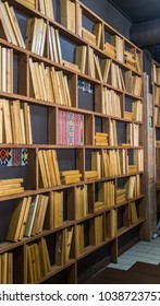 Interior design in a style of library