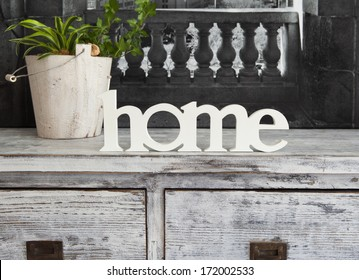 Interior Design with text Home