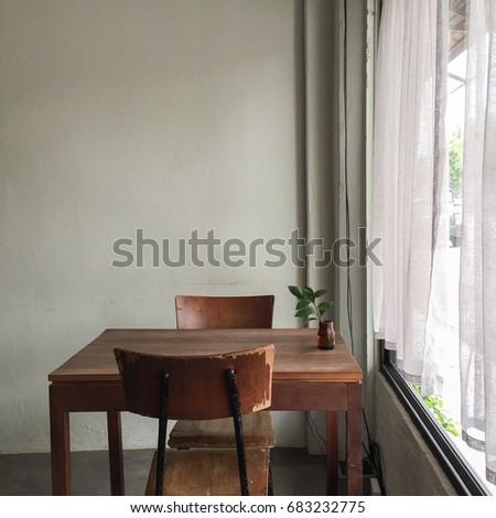 Interior Design Vintage Style Coffee Shop Stock Photo Edit Now