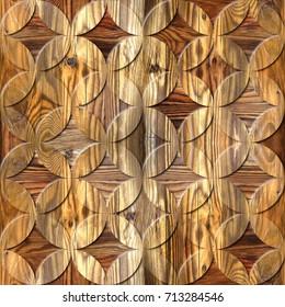 Interior Design wallpaper - paneling pattern - oriental decor - seamless background - wood texture