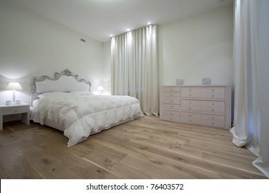 Interior of designer bedroom