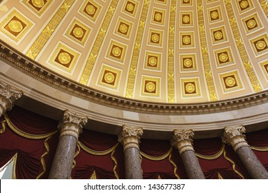 Interior detail of the United States Capitol building, Washington, DC.