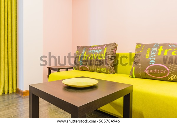 Interior Details Living Room Coffee Table Stock Photo Edit Now 585784946