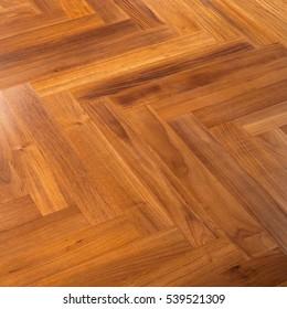 Interior details of oak flooring