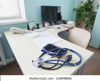 Interior of a doctor's consulting room