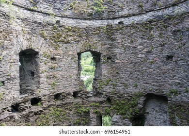 The interior of Dolbadarn Castle, a 13th century castle inLlanberis, North Wales Wales