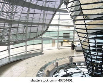 The interior of the dome at the parliament building in Berlin