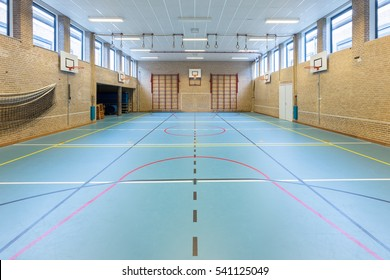 Interior dutch gymnasium for school sports