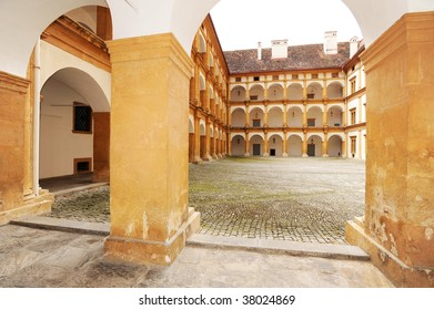 Interior of the Eggenberg castle in Graz, Austria