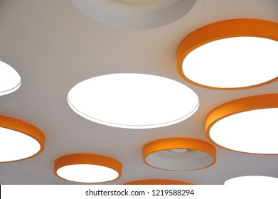 Interior elements. Light fixtures. Ceiling. Close-up