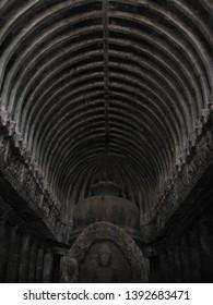 The Interior of Ellora Caves